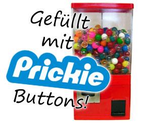 Buttonautomat, gefüllt mit Prickie Buttons