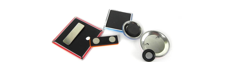 Magnetbuttons, Kleidungsmagnete, Namensschilder, Kühlschrankmagnet