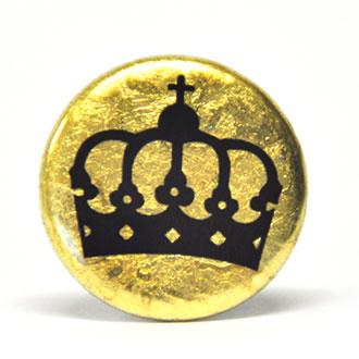 Goldbutton, Button mit Krone
